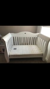 White Boori Sleigh Royal Cotbed with Underbed Storage used