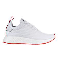 Adidas NMD_R2 Primeknit Men's Shoe White-Core Red ba7253