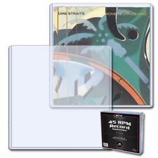 50 - BCW 45 RPM LP Record Vinyl Plastic Toploader Holders