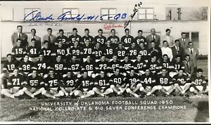 1950 OKLAHOMA SOONERS 8x14 Team Photo Signed by 5.ALL DECEASED!! IN PERSON.RARE!