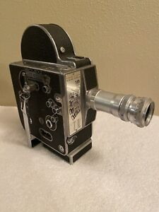 **VINTAGE** 1966 Paillard Bolex H-16M-4 16mm Movie Camera w/ Lens **Functions**