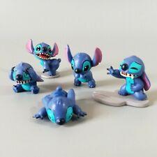 1 Set of 5 Disney Stitch Figure Figurine Cake Topper Ornament House Decor Toys