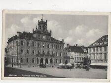 Weimar Rathaus Mit Marktplatz 1935 Postcard Germany 591a