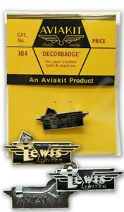 D Lewis Badge/ Gold/ Silver by Aviakit Lewis Leathers