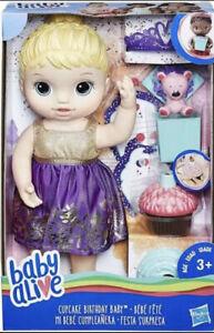 Baby Alive Cupcake Birthday Baby( Blonde Hair & Accessories)