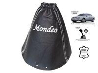 """Schaltmanschette Schaltsack Fur Ford Mondeo MK3 2001-2003 Leder """"Mondeo"""" Weiss"""