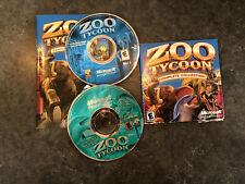 Zoo Tycoon: Complete Collection (PC, 2003) - Both Discs and Manual!