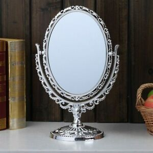 Double Sided Cosmetic Shaving And Makeup Barocco Style Women Mirror With Stand