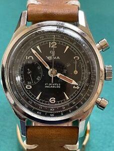 Yema Chronograph Valjoux 92 Swiss Made carica manuale uomo cassa 35 mm