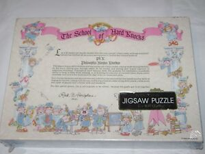 Springbok Puzzle SCHOOL OF HARD KNOCKS Graduate Diploma Sealed
