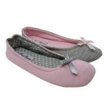 Womens Ballerina Slippers Size 3 4 5 6 7 8 Ladies Girls Bally Pumps with Sole