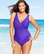 Miraclesuit Oceanus One-Piece Swimsuit Purple Size 14