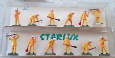12 figurines HO travailleurs du rail peintes STARLUX gare HO neuf BOÎTE n 3