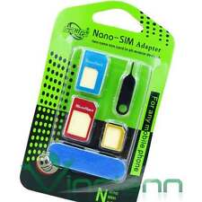 Kit 5in1 adattatore Nano Micro SIM ago spillo per iPhone 6 6S 4.7 6 6S Plus DRI