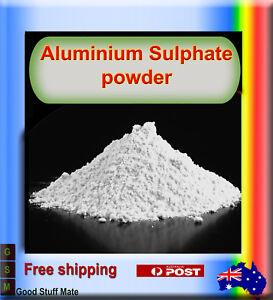 AU SELLER Pure Alum Powder ORGANIC Aluminium Potassium Sulphate Sulfate Fertilis