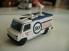 "Matchbox Mercedes TV News Truck ""SKy"" in White"