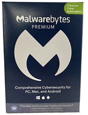 Malwarebytes Anti-Malware Premium 4.2  3 PC- 1 yr 2020 version Product Key Card