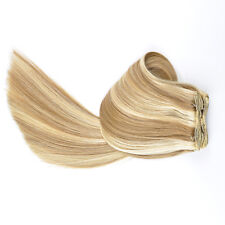 """TressMatch® 20"""" Thick Remy Human Hair Clip in Extensions Black Brown Blonde Red"""