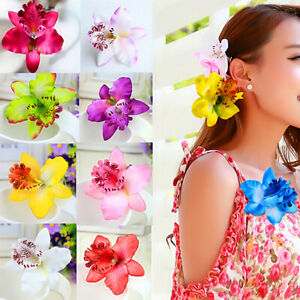 Fashion Beauty Bohemia Orchid Peony Flowers Hair Clips Hairpin Corsage Jewelry