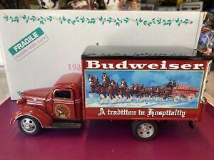 SCARCE Danbury Mint 1930's Budweiser Christmas Truck With Original Box