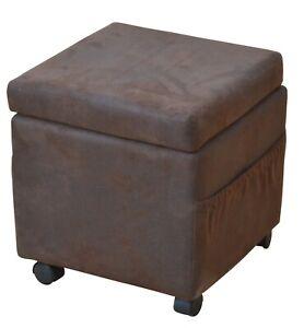 Sitzwürfel mit Rollen Sitzhocker Hocker Bank Aufbewahrungsbox Magazinhalter