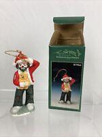 "Vintage Collectible Flambro"" Emmett Kelly Jr.""Porcelain Teacher Ornament 4.25"" H"