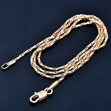 Lucky Fashion Yellow Gold Filled Couple Snake Long Necklace For Women Men Gift