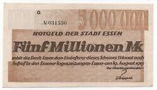 GERMANY ESSEN 5 MILLIONEN MARK 1923 EMERGENCY MONEY NOTGELD LOOK SCANS