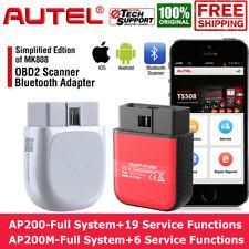 Autel AP200/AP200M Bluetooth Car Scanner OBD2 Code Reader Full-System TPMS IMMO
