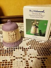 "M.J. Hummel Christmas Bell, ""Harmony In Four Parts"", Fourth Edition 1992 Box"