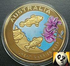 2010 Australia 40mm Gran Barrera de Coral medalla de bronce moneda de color sólo 10,000!