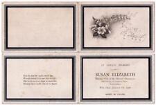 1930 In Memoriam Card SUSAN ELIZABETH DERMEDY - PONTARDULAIS, Swansea, Wales