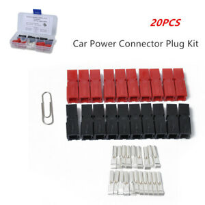 Car Truck Battery Quik Connector 30Amp Powerpole Electrical Connector Plug 20 x