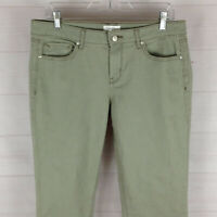 Jessica Simpson Rolled Crop Skinny womens size 10 green mid rise selvedge jeans