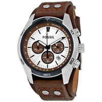 Fossil Coachman Chronograph Cuff Leather Men's Watch CH2565