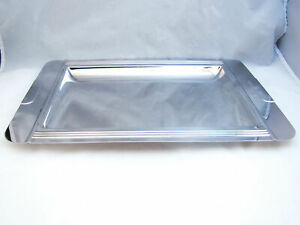 """Jean Couzon France Stainless Steel GRECO (Art Deco) Platter/Tray (15 3/4"""") READ"""