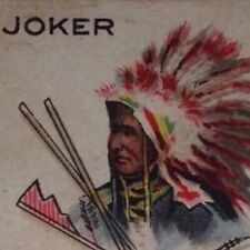 c1910 Chief Joker Playing Cards Single Native Indian The American Tobacco Co.