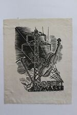 ✒ EX LIBRIS Robert Masse par Nina Brodsky (1872-1979) artiste ukrainienne Chine