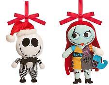 Disney Store Jack Skellington & Sally Plush Ornament -Nightmare Before Christmas
