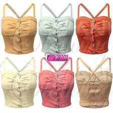 Cotton Party Fitted Sleeveless Tops & Shirts for Women