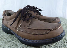 Hush Puppies Men's 9 M Brown Leather Oxford Loafer Shoe 9MLace up Casual