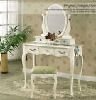 Brand New 5 Drawers Luxury Mirror Wooden Dressing Table & Stool Modern Design
