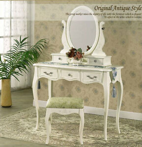 Brand New 5 Drawers Luxury Mirror Wooden Dressing Table & Stool Modern Design