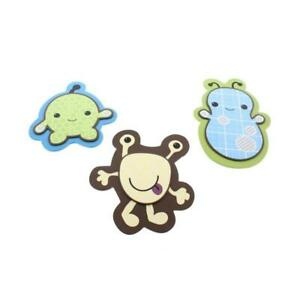 CoCaLo Baby Peek-A-Boo Monsters Multi Wooden Baby Boy Wall Decor Set  3371