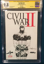 JAE LEE ORIGINAL Sketch Art CGC 9.8 CAPTAIN AMERICA Signed AVENGERS CIVIL WAR II