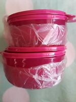 Tupperware Bowls Set of 4 Big Wonders (2 Cup)Cereal and Salad Containers in pink