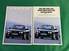 1989 BMW 316i 318i 320i 325iX German Language Sales Brochure + Color Brochure