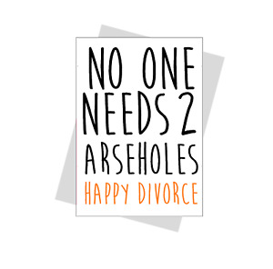 funny Divorce Card rude humour banter divorce party friend sister cheeky happy