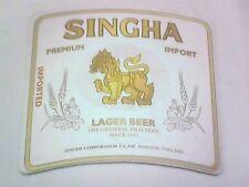SINGHA LAGER BEER The Original Thai beer    Beermat / Coaster 2 sided
