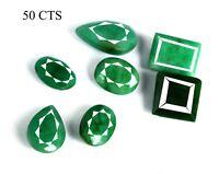 Green Emerald Loose Gemstone Lot Natural High Quality Mix Shape Brazilian